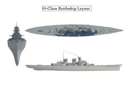 H-Class Battleship Render Test