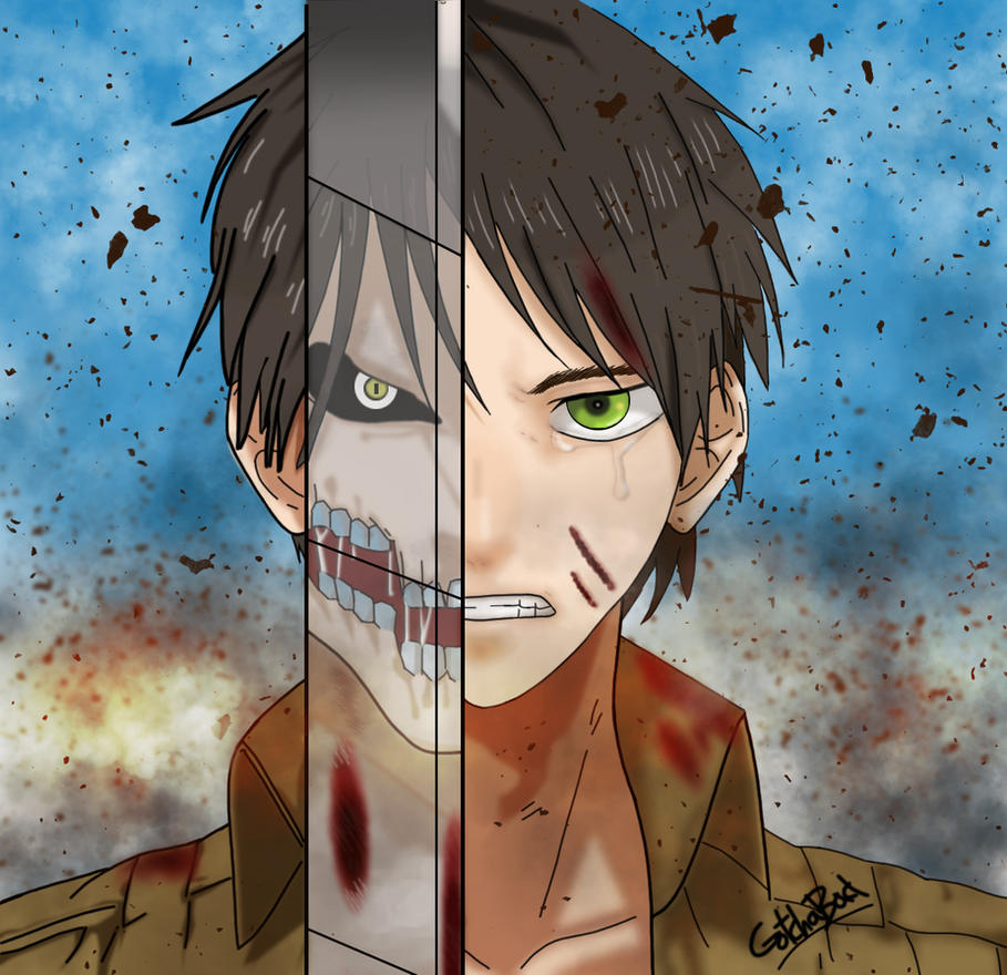 Eren Yeager : Attack on Titan (Shingeki no Kyojin) by Gotchabad