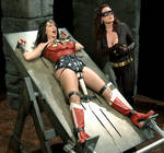 Wonder Woman Captured and Strapped to Table