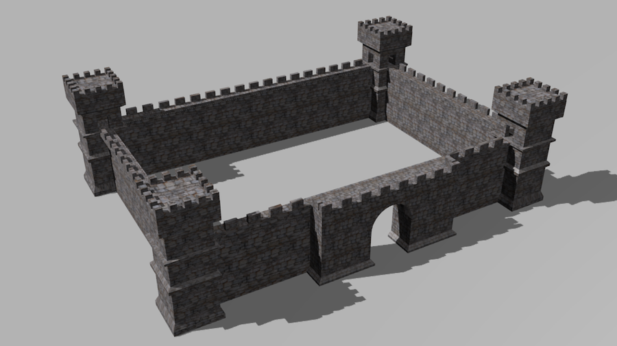 Castle model Texture by L0rdDrake