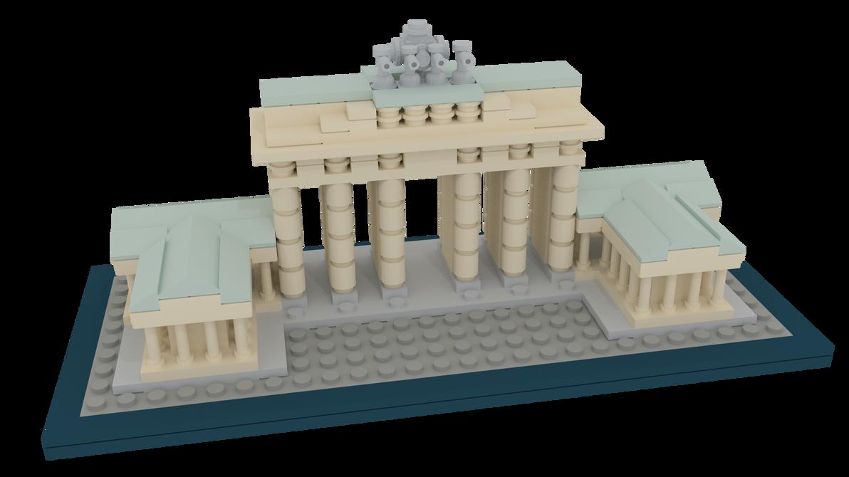 LEGO Brandenburg Gate by L0rdDrake
