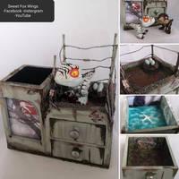 Jurassic Park 3 diorama pencil box