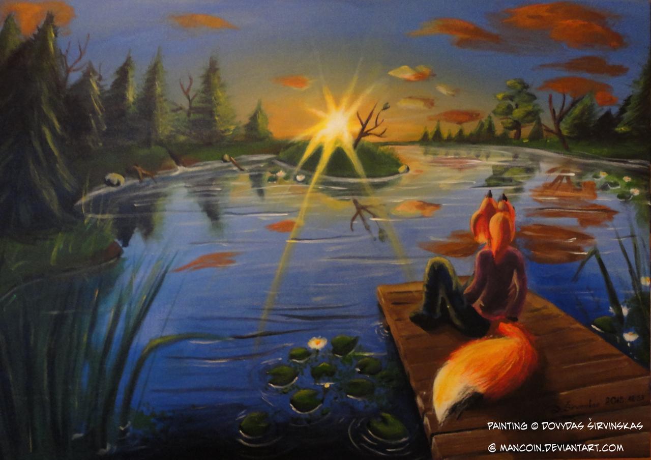 Sunset vixen by Mancoin