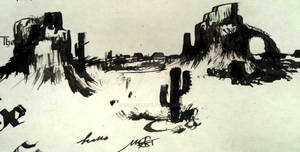 Canyon/Desert Art In Ink