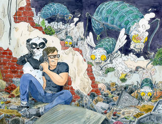 Mr Teach and Panda intrior spread