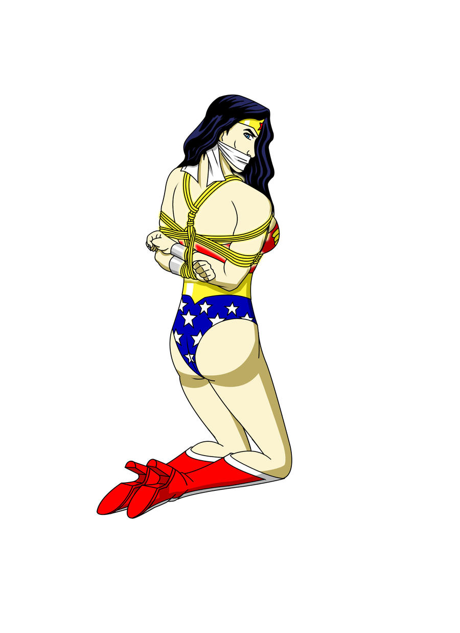 Wonder Woman Bound and Gagged by Ztunner