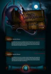'Dragon' design Web page by serlen
