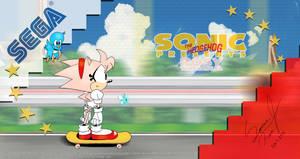 Rosy Skate Boarding