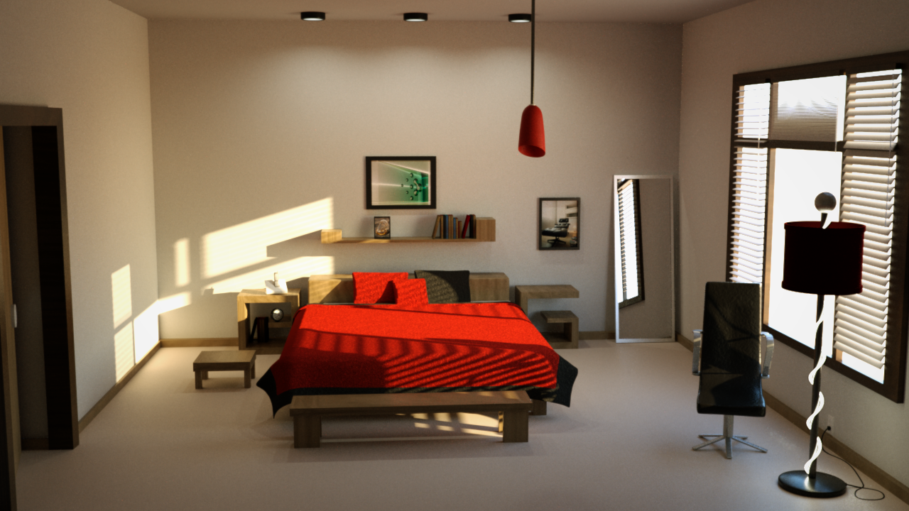 luxrender • view topic - bedroom scene