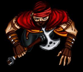 Free token Roll20 : Oriental bandit (war axe)