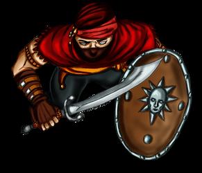 Free token Roll20  Oriental bandit (shielded)