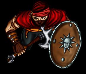 Free token Roll20 : Oriental bandit (shield 3)