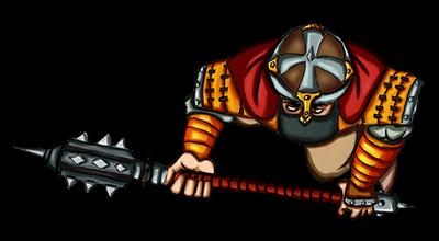 Free token Roll20 : Oriental warrior (mace)