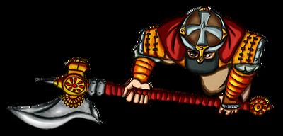 Free token Roll20 : Oriental warrior (war axe)