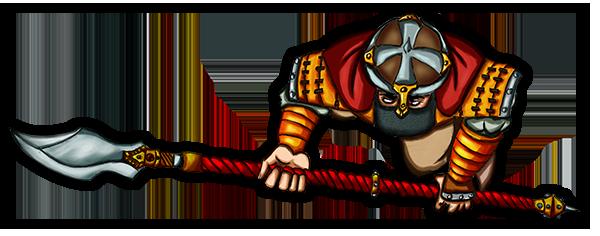 Free token Roll20 : Oriental warrior (halberd)