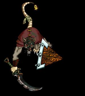 Token Roll20 Warhammer: Skaven Clan Rat shielded