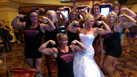 Muscle bridesmaids are the BEST bridesmaids by MuscleGirlzLive