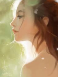 Girl sketch by LeeKent