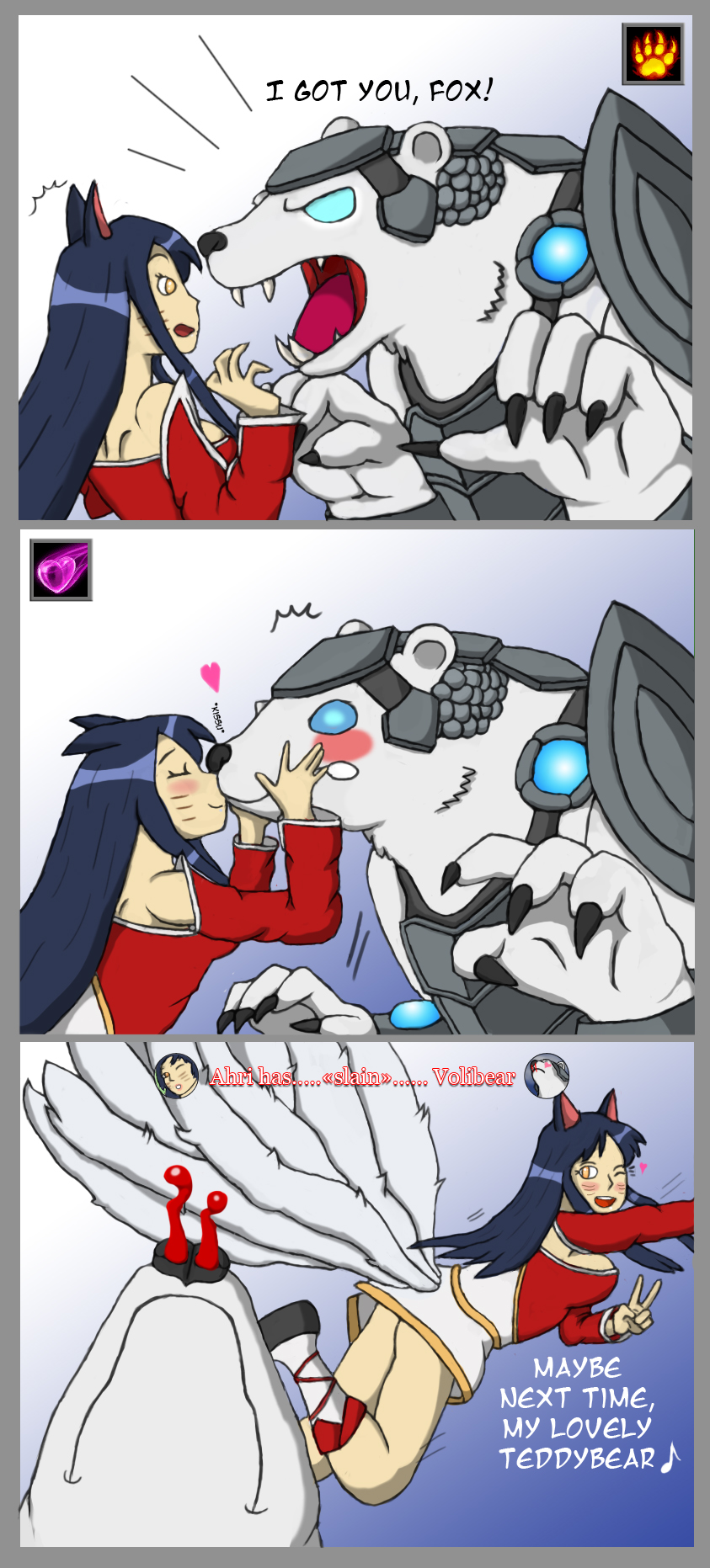 Volibear VS Ahri by Grimgor09