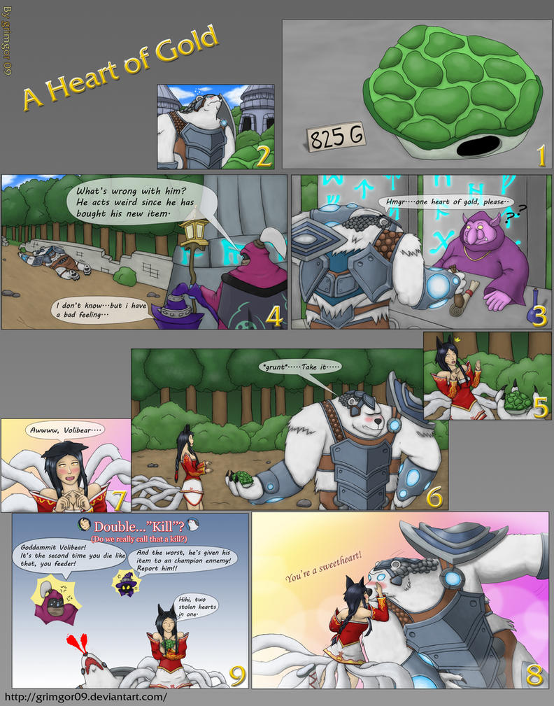 LoL Fan Comic: A Heart of gold by Grimgor09