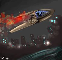 A ship, a woman by Saibel