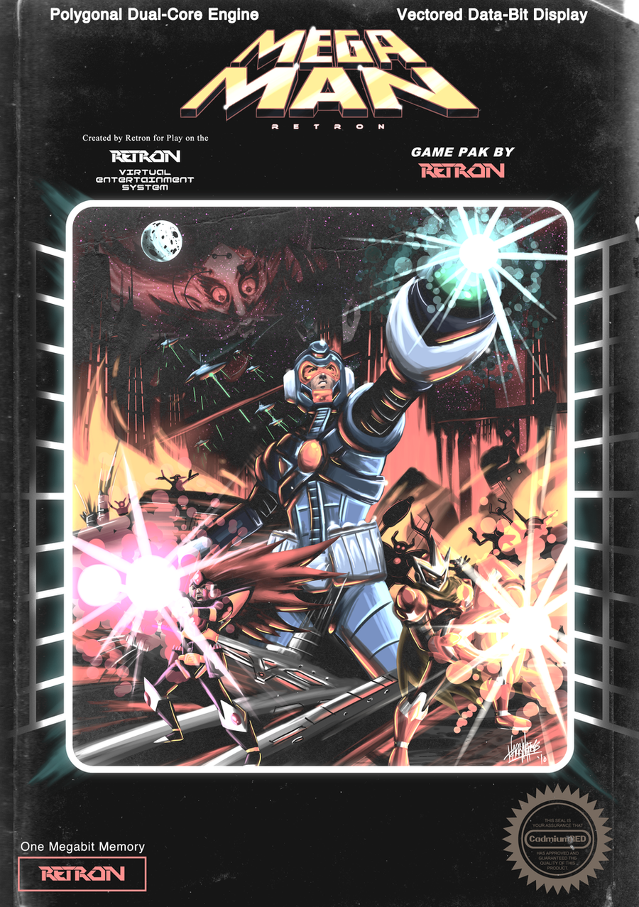 Mega Man Retron Box Art By Cadmiumred On Deviantart