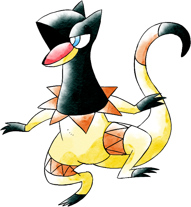 Heliolisk (Old Sugimori Style) by CadmiumRED