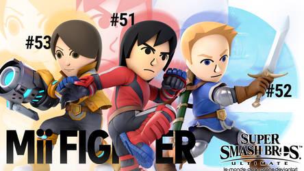 Super Smash Bros. Ultimate - Mii Fighter by le-monde-de-k-rosene