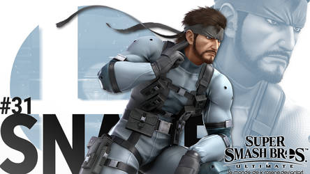 Super Smash Bros. Ultimate - Snake by le-monde-de-k-rosene