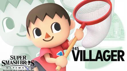 Super Smash Bros. Ultimate - Villager by le-monde-de-k-rosene