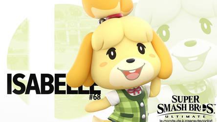 Super Smash Bros. Ultimate - Isabelle by le-monde-de-k-rosene