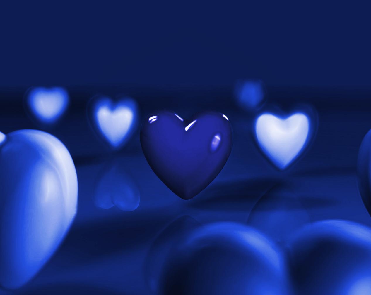 blue hearts by ilnanny on DeviantArt Blue Heart Wallpapers