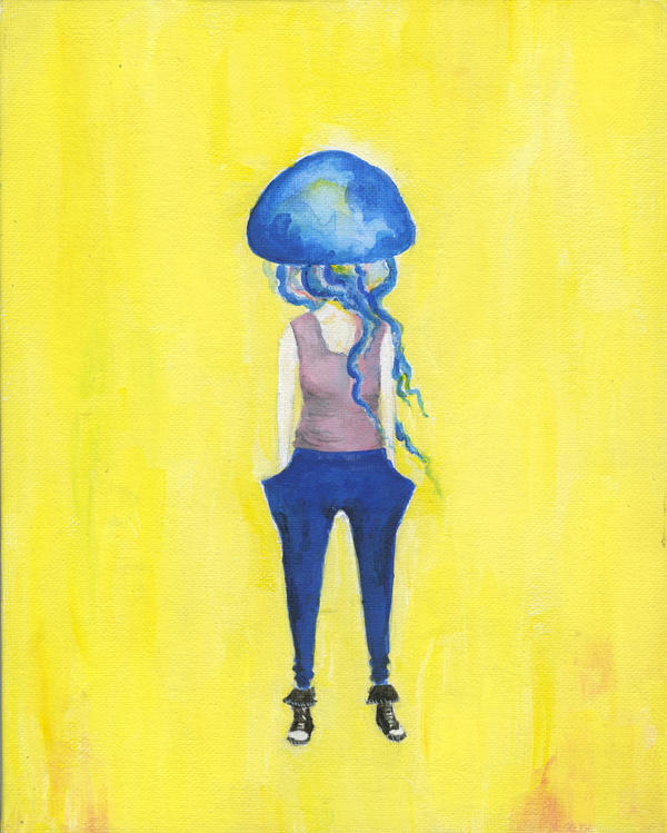 jellyfish girl 1 by MagpieCatso