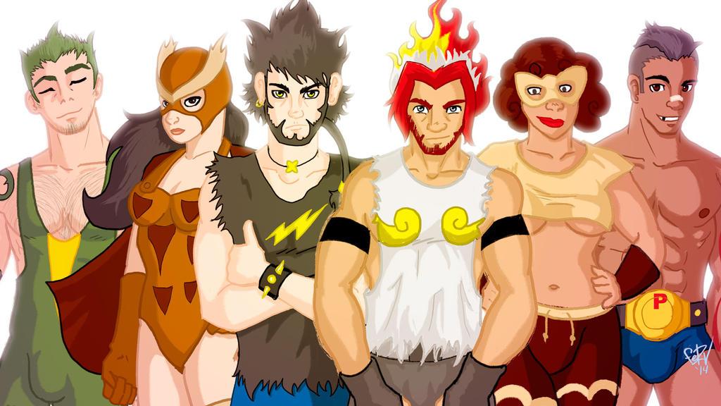 Poke team by FeRV
