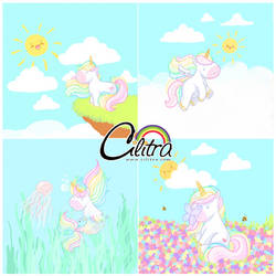 Chubby unicorns by Cilitra