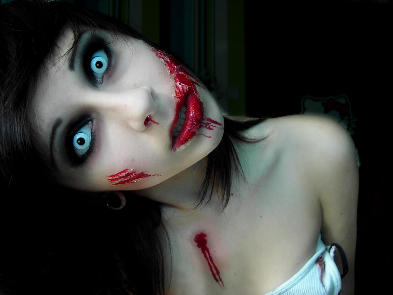 ... 2012 2015 mariemystery zombie girl make up by me tutorial will be made