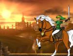 Link n Epona in Hyrule