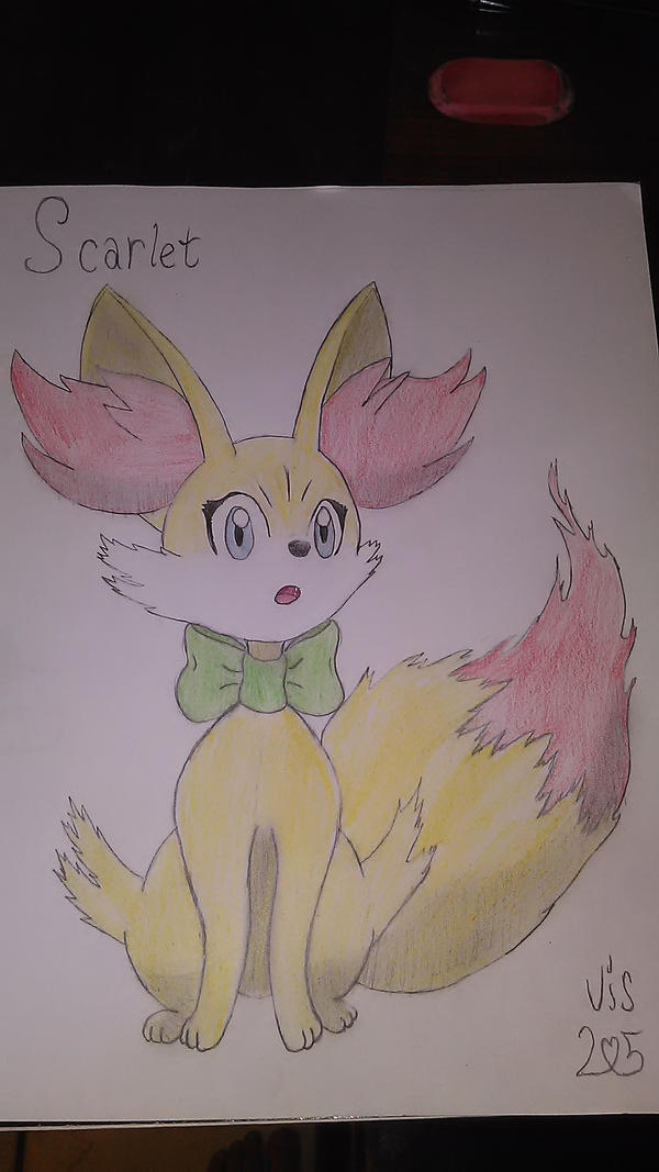 Scarlet the fennekin by inviseon25