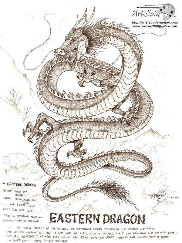 eastern dragon by artstain on deviantart. Black Bedroom Furniture Sets. Home Design Ideas