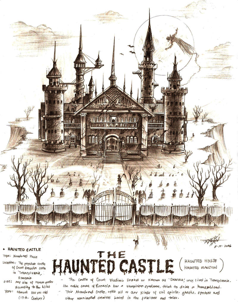 The Haunted Castle By Artstain On DeviantArt