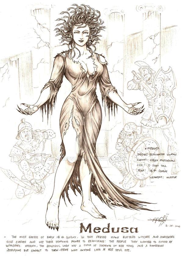 MEDUSA the gorgon by artstain