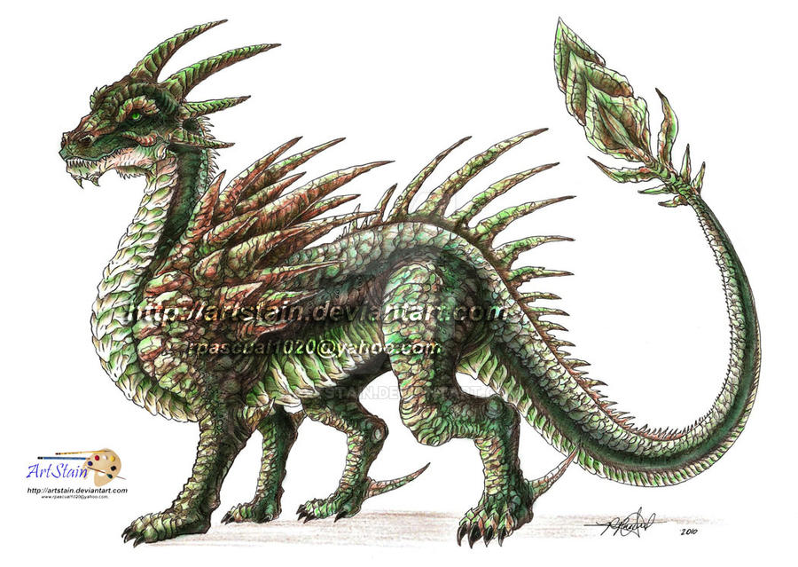 oc earth dragon by artstain on deviantart