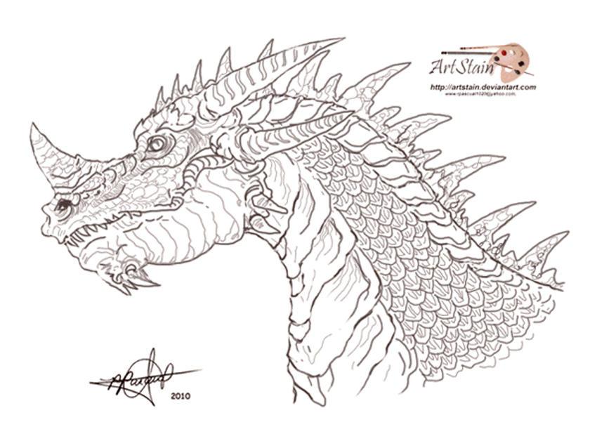 Animated dragon head - photo#3