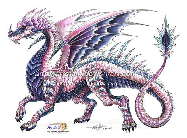 oc ice dragon by artstain on deviantart