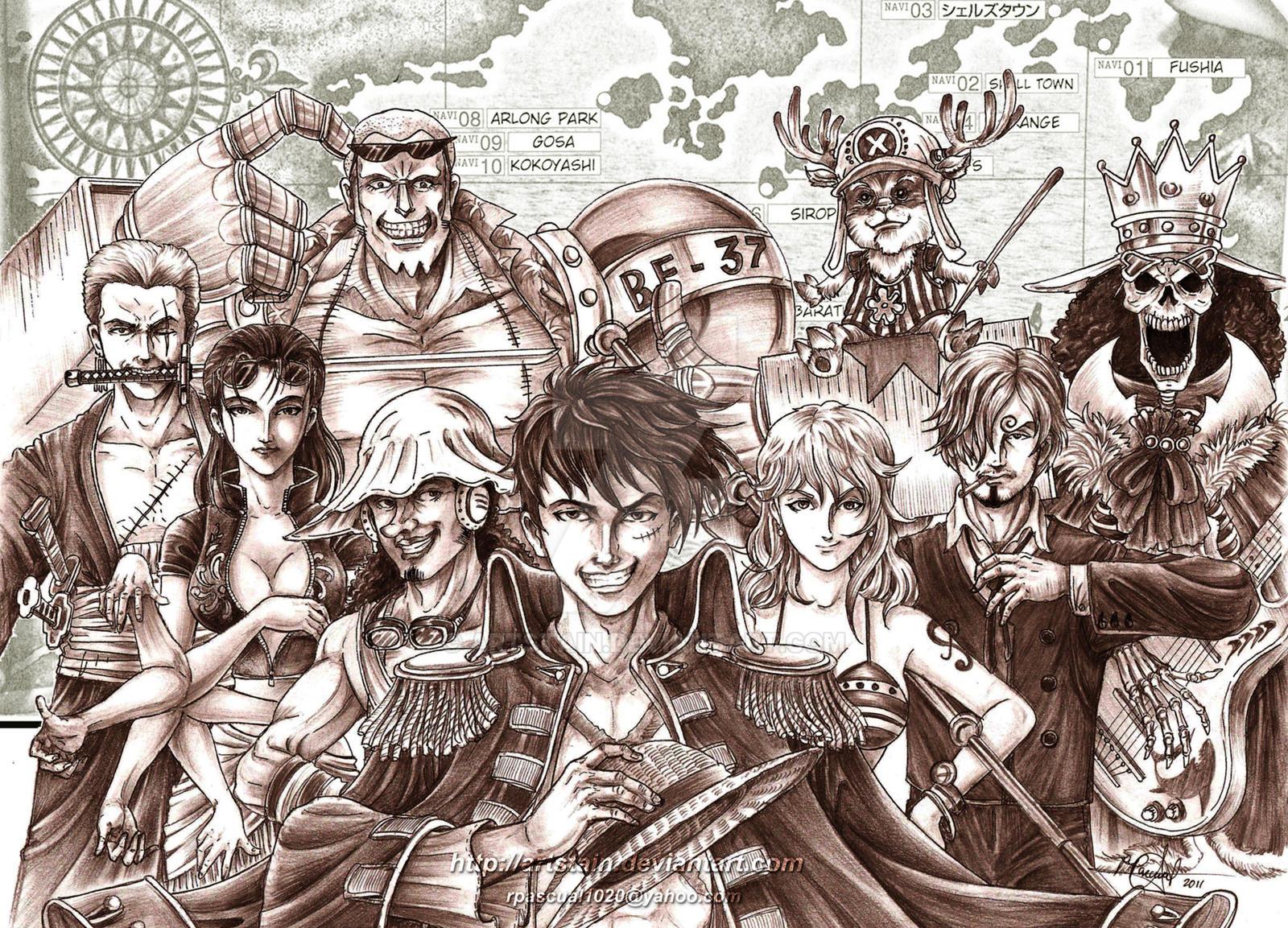 straw hat pirates new world by artstain on deviantart