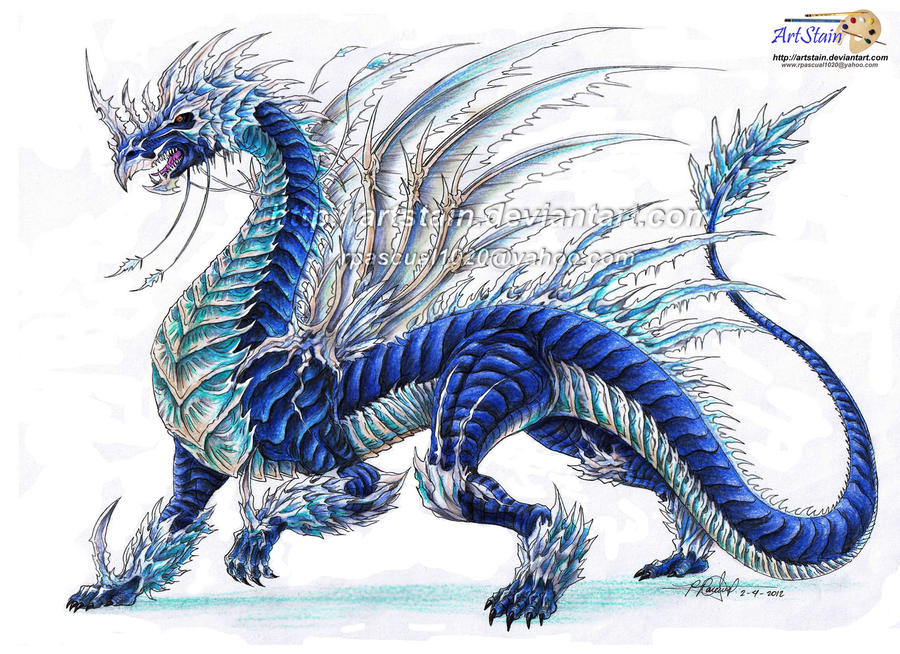 how to draw a ice dragon