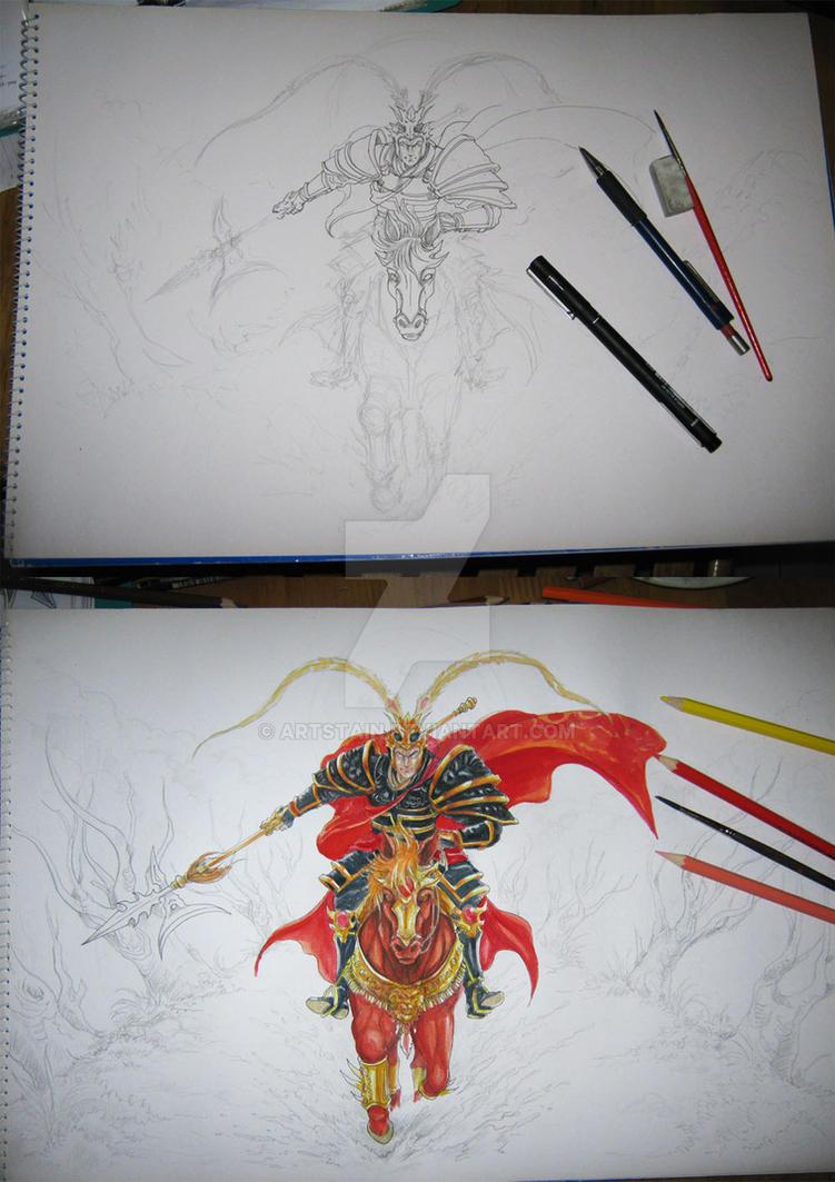 Lu Bu Commission by artstain