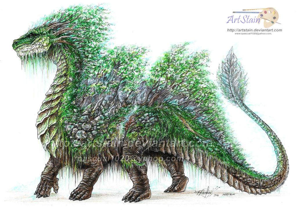 FOREST DRAGON ( Semperigon ) by artstain