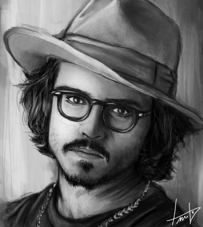 Estudo de Sombra e Luz 3 - Johnny Depp by LouizBrito