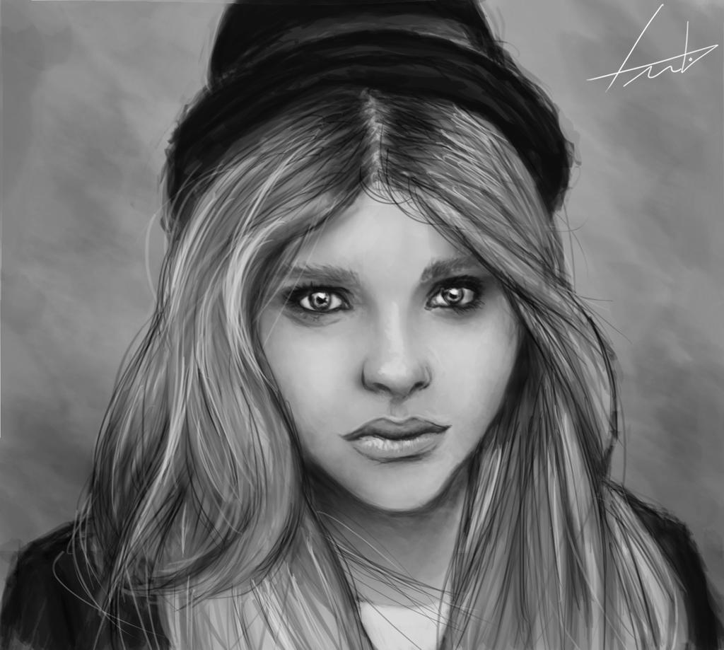 Estudo de Sombra e Luz 4 - Chloe Moretz by LouizBrito